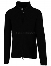 Hannes Roether Strickjacke no12rm black  1