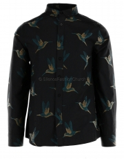 GABBA Dallas Bird LS Shirt black 1