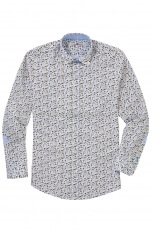 Lucky de Luca Men s Shirt Fishes Print 2