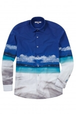 Lucky de Luca Men s Shirt Harbour Pano Print 2