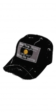 Lauren Rose Damaged Painted Snapback BallOut black