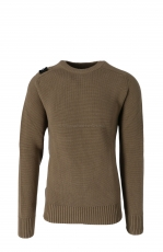 MA.STRUM Milano Knit Crew Neck Timber Wolf 1