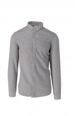 Luis Trenker Hendrik Chanel Hemd weiss-grau 1