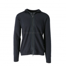 Denham The Jeanmaker Compton Zip Cardigan SK black 1