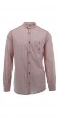 Luis Trenker Bernet Hemd mit Stehkragen weiss-orange gestreift 1