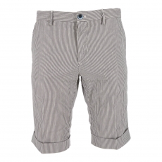 Mason's Bermuda Chino Short Stripes anthra/weiss 1