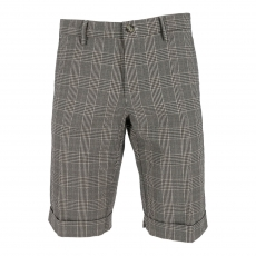 Mason's Bermuda Chino Short black/white check 1