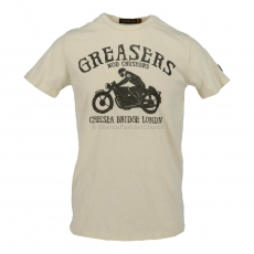 Johnson Motors  London Greasers dirty white