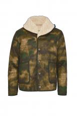 Fleurs de Bagne Jacke DISCIPLINE COL MOUTON camouflage