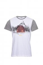 Luis Trenker  Claudian T- Shirt weiß- grau 2