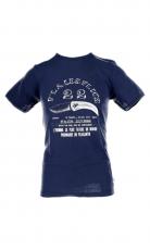 Fleurs de Bagne Shirt 22V'LA LES FLICS navy