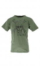 Rude Riders T Shirt Skull  green 2