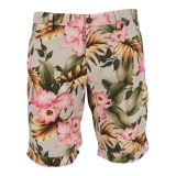Mason's Bermuda Chino Short Flower 1